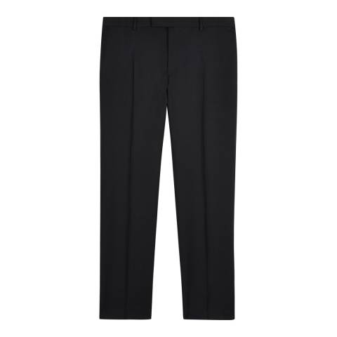Jaeger Black Slim Plain Twill Wool Trousers