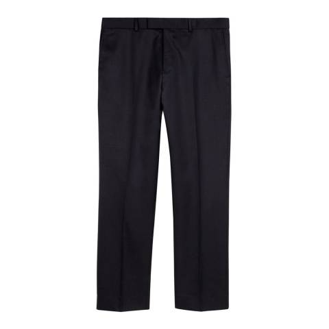 Jaeger Navy Plain Twill Trousers