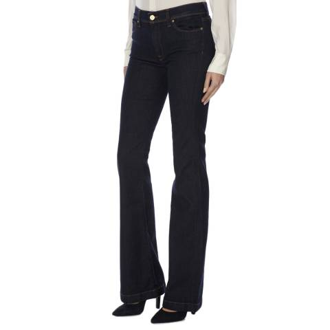 7 For All Mankind  Blue High Waisted Charlize Stretch Jeans