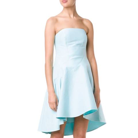 Halston Heritage Foam Strapless Structured Hi Lo Dress