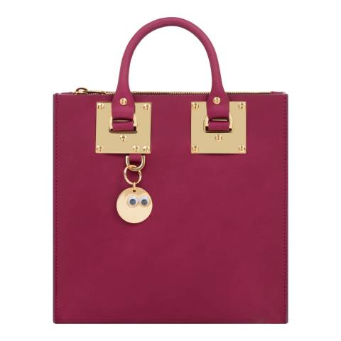 Sophie Hulme Plum Leather Square Albion Tote Bag
