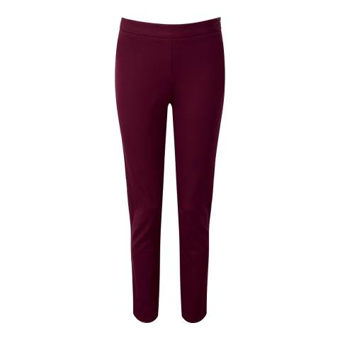 Pure Collection Red Cotton Stretch Crop Trousers
