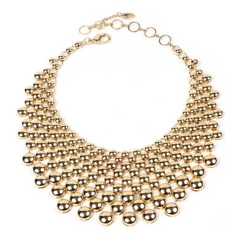 Amrita Singh Gold Metallic Collar Necklace
