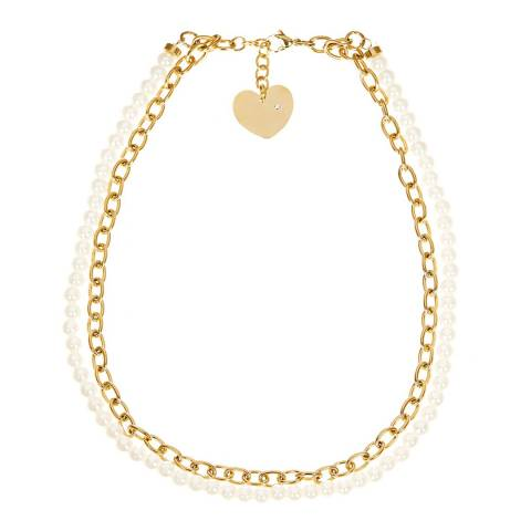 White label by Liv Oliver Gold and Pearl Layered Necklace