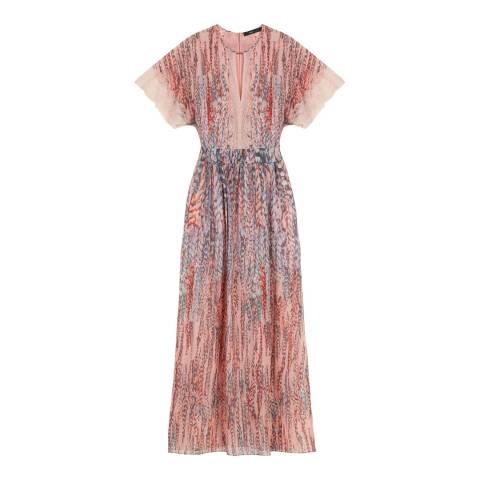 BCBG Pink Clay Combination Woven Evening Dress