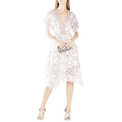 BCBG Canvas Combination Evening Dress