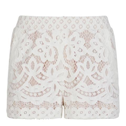 BCBG Jasmine White Combo Knit Shorts