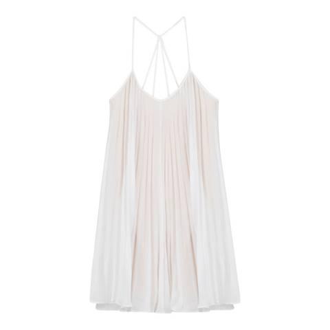 BCBG White Woven Cocktail Dress