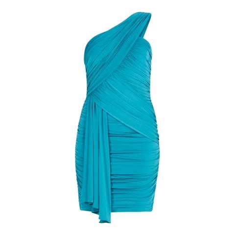 BCBG Deep Jade Knit Evening Dress