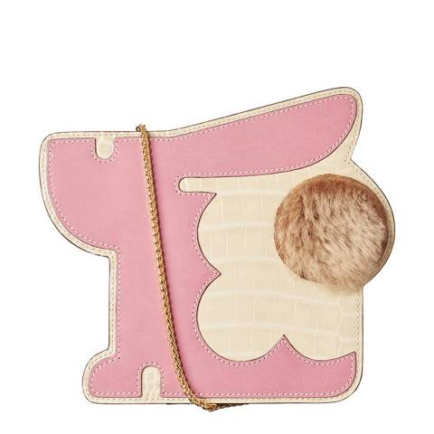 Orla Kiely Lilac Leather Bunny Small Chain Bag