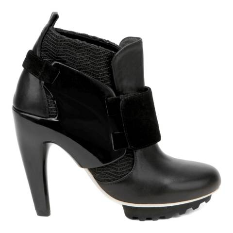 United Nude Black and Black Riz Spring Eros Ankle Boots