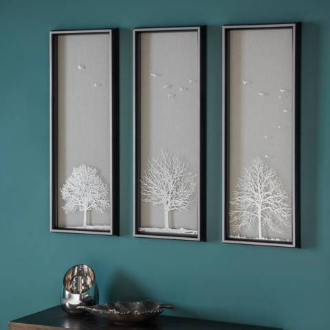Gallery Autumn Tree Trio Framed Art 35x94cm