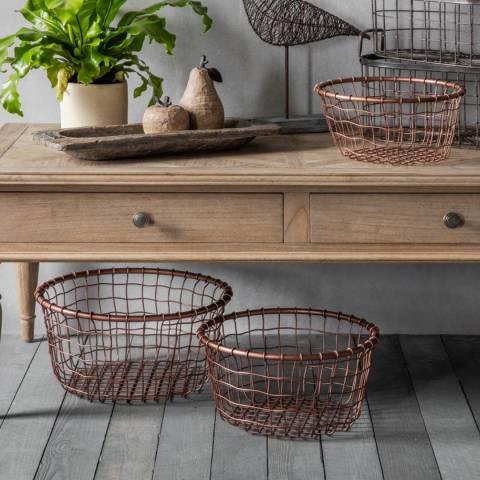Gallery Set of 3 Dixon Metal Baskets