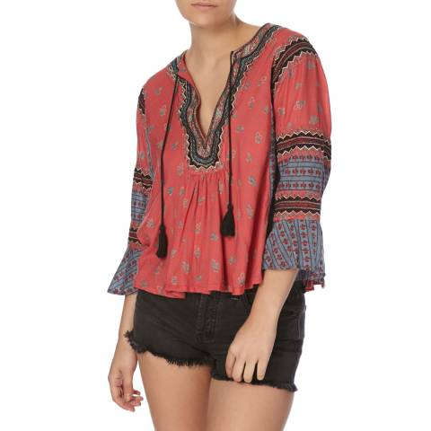 Free People Red But I Like It Top