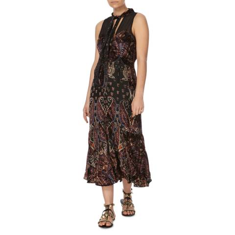 Free People Black Combo Hands To Hold Maxi Dress