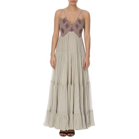 Free People Silver Lost In A Dream Maxi Dress