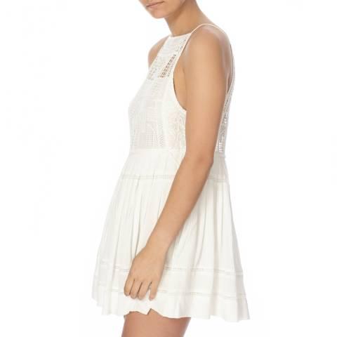 Free People Ivory Emily Crochet Detail Dress