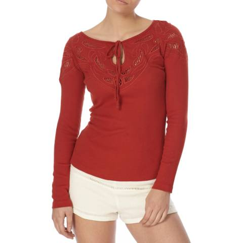Free People Red With Love Tee