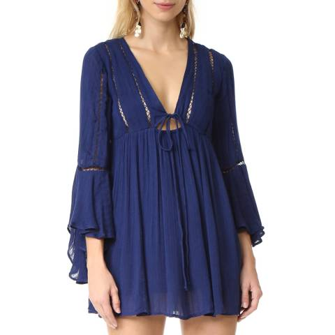 Free People Navy Romeo Mini Dress