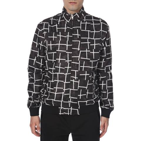 McQ by Alexander McQueen Men's Black/White Printed Jacket