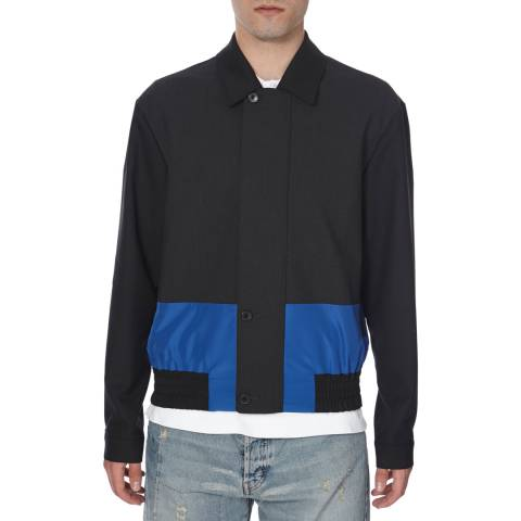 McQ by Alexander McQueen Men's Black/Blue Tow Tone Jacket