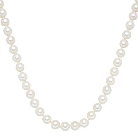 Perldesse White Freshwater Pearl Necklace 10mm