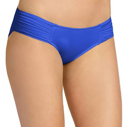 Seafolly Blue Pleated Hipster Bikini Briefs