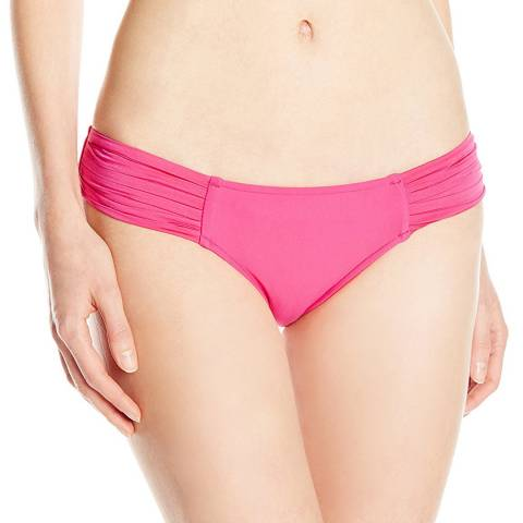 Seafolly Pink Pleated Hipster Bikini Briefs