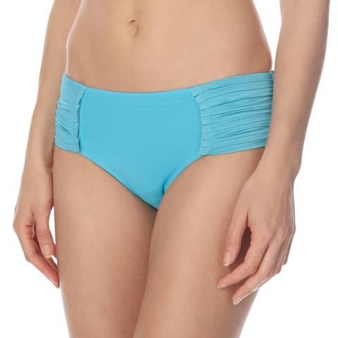 Seafolly Bright Blue Pleated Retro Bikini Briefs
