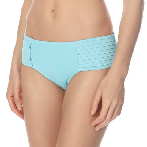 Seafolly Light Blue Pleated Retro Bikini Briefs