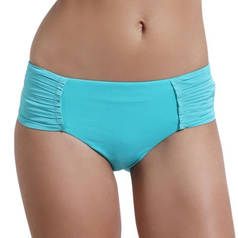 Seafolly Turquoise/Green Pleated Retro Bikini Briefs