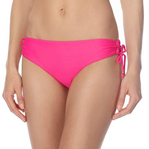 Seafolly Pink Lace Up Hipster Bikini Briefs