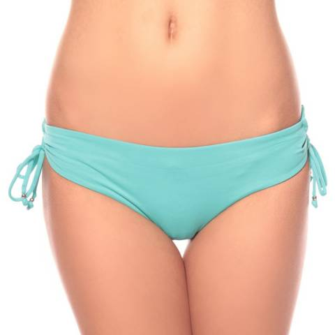 Seafolly Turquoise/Green Lace Up Hipster Bikini Briefs