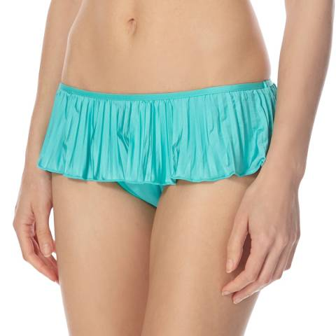 Seafolly Turquoise/Green Skirted Hipster Bikini Briefs