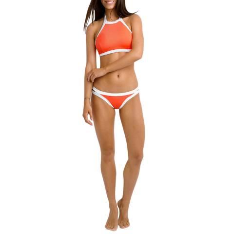 Seafolly Orange Block Party High Neck Tank Bikini Top