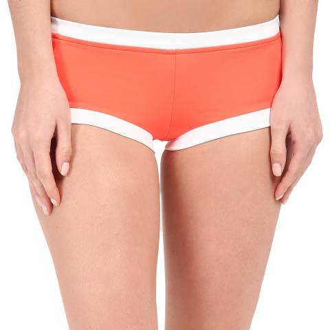 Seafolly Orange Block Party Boyleg Bikini Briefs
