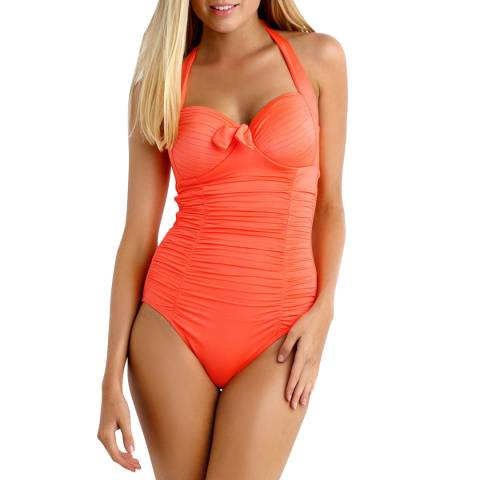 Seafolly Orange Soft Cup Halter Swimsuit