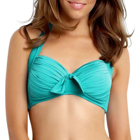 Seafolly Turquoise/Green Soft Cup Halter Bikini Top