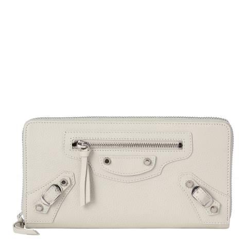 Balenciaga Cream Continental Leather Wallet