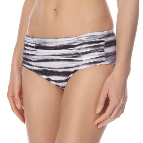 Seafolly Grey/White Osaka Stripe Gathered Retro Bikini Briefs