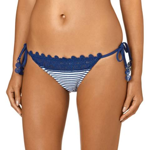 Seafolly FBlueMarle Riviera Lace Brazilian Tie Side Briefs