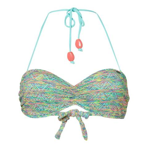 O'Neill Green/Multi Crochet Padded Underwired Bikini Top