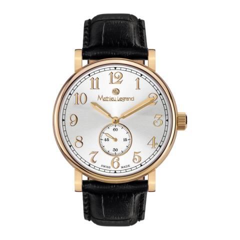Mathieu Legrand Men's Black/Gold Classique Watch