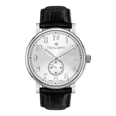 Mathieu Legrand Men's Black/Silver Classique Watch