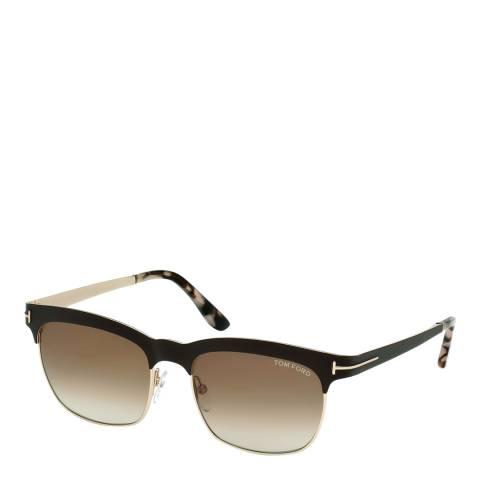 Tom Ford Women's Shiny Fark Brown / Graduated Brown Sunglasses 54mm