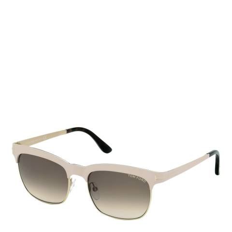 Tom Ford Women's Pale Pink / Graduated Brown Sunglasses 54mm
