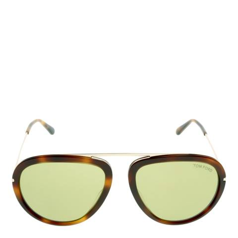 Tom Ford Women's Brown/Green Sunglasses 57mm