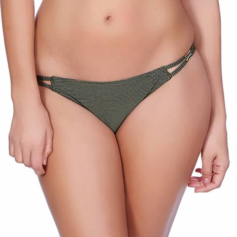 Freya Olive Green Glam Rock Bikini Briefs
