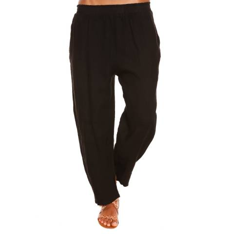 100% Linen Black Rose Trousers