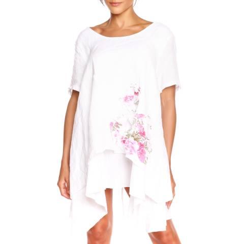 100% Linen White Tunic Dress